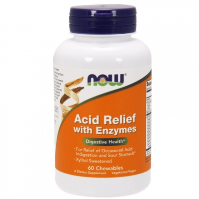 Acid Relief with Enzymes 60 tabletek do ssania
