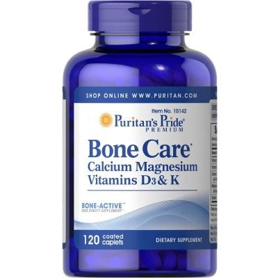 Bone Care Wsparcie kości (Witamina D3, K1, Wapń Magnez) 120 tabl.
