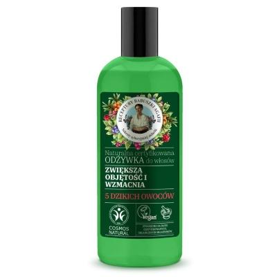 Agafia Zielona Naturalna certyfikowana Odżywka do włosów Zwiększa objętość i wzmacnia 260 ml