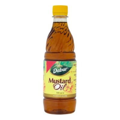 Olej musztardowy do masażu i włosów 500 ml