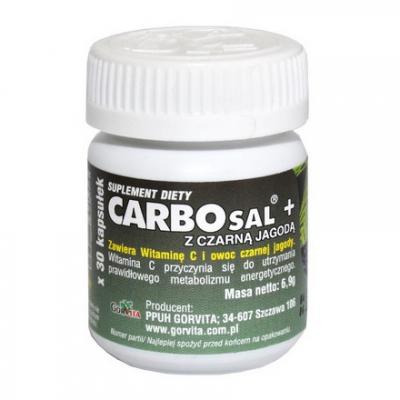 Carbosal Plus z czarną jagodą 30 kaps.