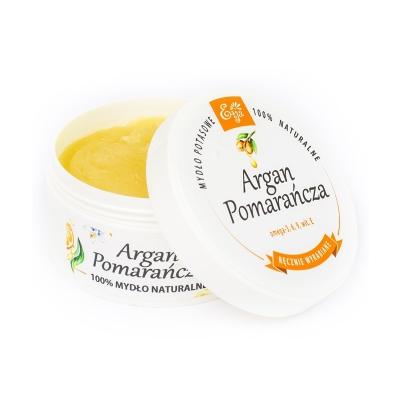 Mydło 100% naturalne argan & pomarańcza 80g