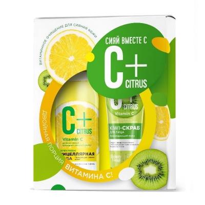 C+ Citrus Zestaw do twarzy - Woda Micelarna + Peeling do twarzy