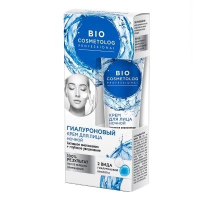 BIO Cosmetolog Hialuronowy krem do twarzy na noc Aktywne odmładzenie i głębokie nawilżenie 45ml