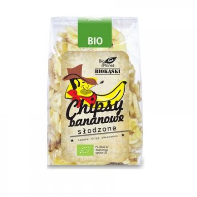 Bio Planet Chipsy bananowe słodzone BIO 150g
