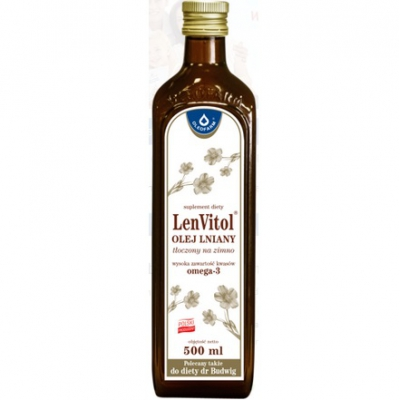 LENVITOL Olej lniany nieoczyszczony 500ml