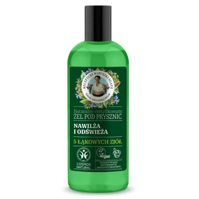 Agafia Zielona Naturalny certyfikowany Żel pod prysznic Nawilża i odświeża Działanie nawilżające i odświeżające 260 ml