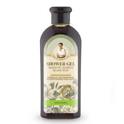 Agafia Żel pod prysznic nawilżający czarne mydło 350ml