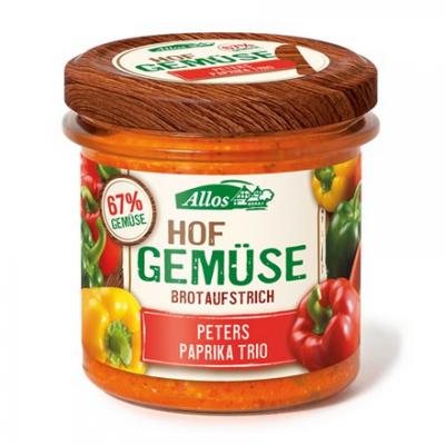 ALLOS Pasta warzywna z trzema rodzajami papryki BIO 135g