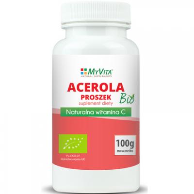 Acerola BIO proszek (sproszkowany sok) 100g