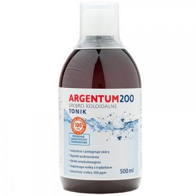 Argentum 200 Srebro Koloidalne 100ppm tonik 500 ml