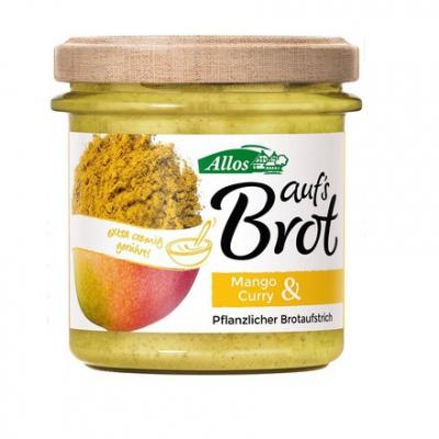 ALLOS Pasta kremowa z mango i curry bezglutenowa BIO 140g