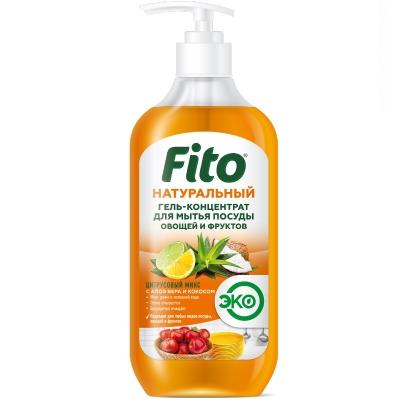 Naturalny koncentrat w żelu do mycia naczyń i owoców Cytrusowy Mix 490 ml