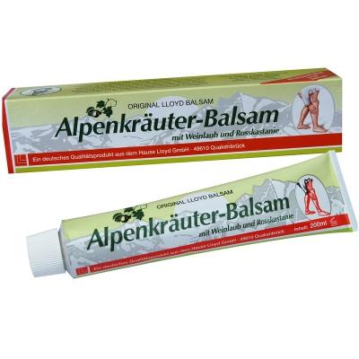 Balsan ziołowy Alpenkrauter z ziół alpejskich + Kasztanowiec i Liście Czerwonych Winogron 200ml