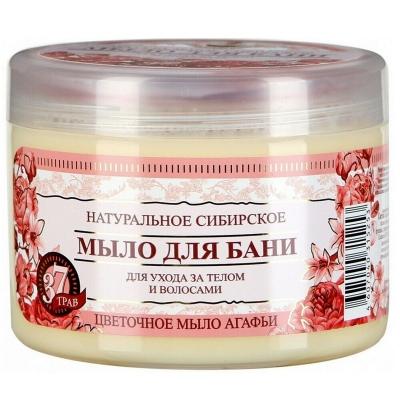 Agafia Mydło Kwiatowe syberyjskie ziołowe do ciała i włosów 500ml