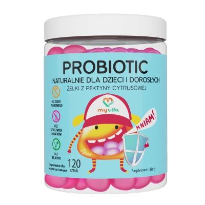 Naturalne Żelki Probiotic dla dzieci i dorosłych 120szt
