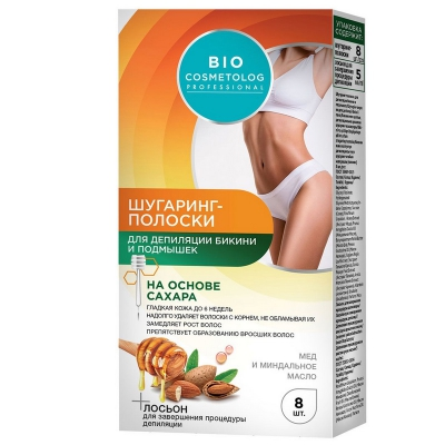 BIO Cosmetolog Plastry cukrowe do depilacji, okolice bikini i pod pachami 8szt