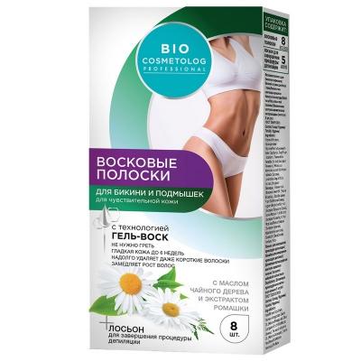 BIO Cosmetolog Plastry woskowe dp depilacji bikini i pod pachami 8szt